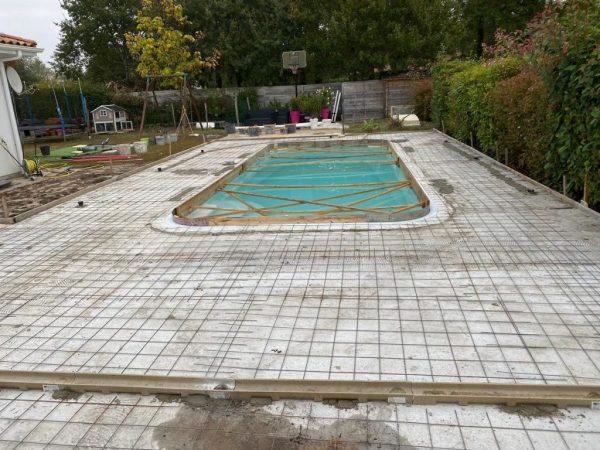béton imprimé Plage de piscine Mont-de-Marsan