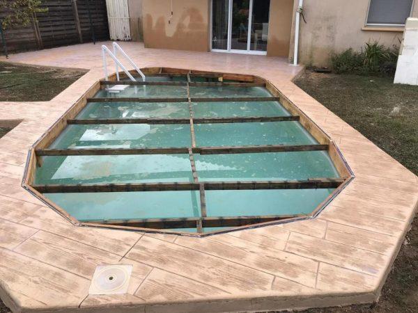 béton imprimé Plage de piscine Pau